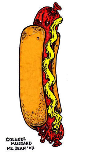colonel mustard's hot dog