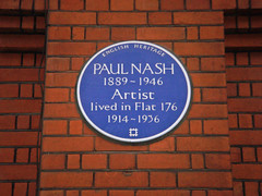 Photo of Paul Nash blue plaque