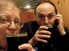 November 30, 2007: Celebrating the successful completion of NaNoWriMo 2007 with my friend Chris, another NaNoWriMo winnter
