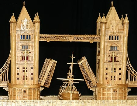 Tower Bridge Made from Matchsticks