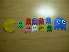 PACMAN Hama beads (Garumiru) Tags: pacman llaveros hamabeads