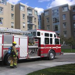 Calgary Fire Department in Action (Vlastula) Tags: canada calgary truck campus fire hall university ab canadian alberta fireman vehicle firemen residence rez cascade department universityofcalgary firebrigade uofc cfd ucalgary