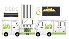 Linty Fresh truck (gameyy) Tags: art truck paper design diy box tshirt vector template customtoy papertoy ericterry lintyfresh