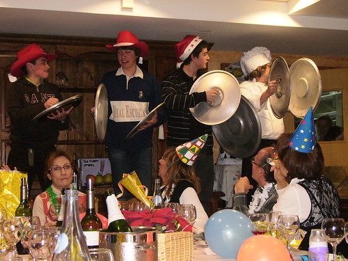 Campanadas en la cena de Nochevieja de 2007 en el Hotel Turpí