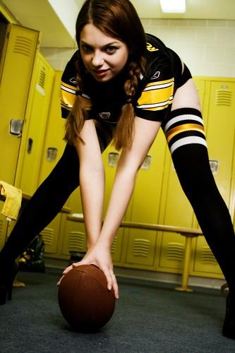 Sexy girl in locker room