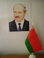 Luka and flag (zscout370) Tags: flag belarus lukashenko