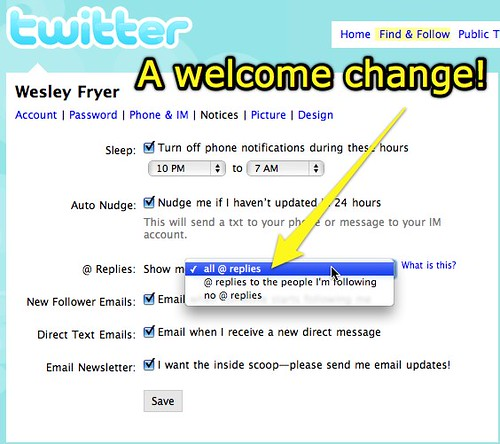 Twitter: A welcome change!
