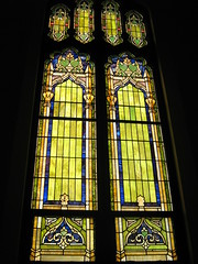 stained glass windows at the Union Project