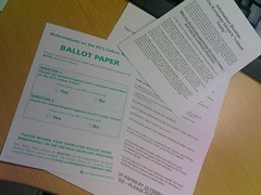 """ballot paper"" for the EU Lisbon Treaty"