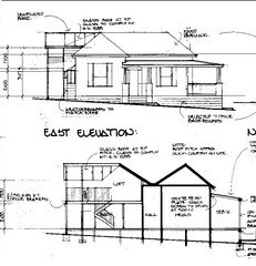 Front of cottage elevation drawing