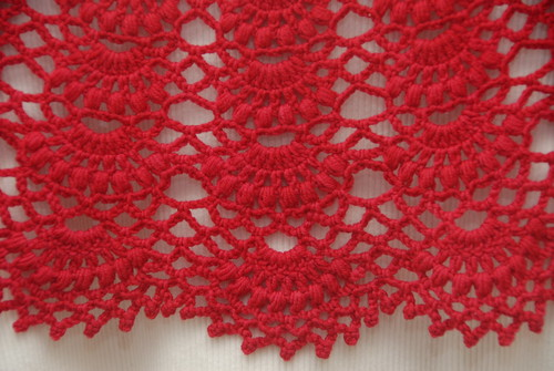 Back of Red Capelet (closeup)
