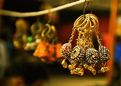 Hanging (chatursunil) Tags: india macro colorful delhi rings ear hanging ornate dilli haat