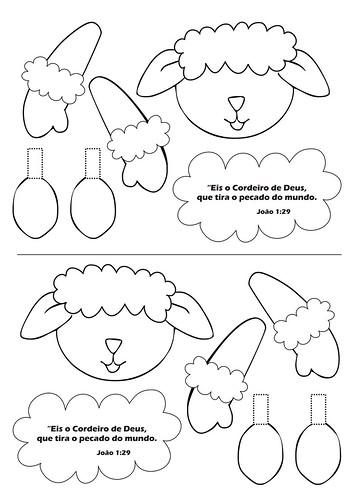 mesa jardim de atividades molto:Molde de Ovelha para Porta Guloseimas