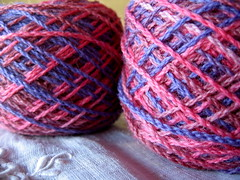 Patons bluebell, dyed and balled