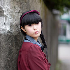 Akina (swanky) Tags: portrait people woman cute girl beautiful beauty canon asian eos md model women pretty taiwan 85mm babe pout belle taipei   2008 taiwanese image01  30d     akina   canonef85mmf18usm   emiruemirue ak