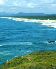 Beach (MadeleineDove) Tags: lighthouse beach rocks waves portmacquarie tackingpoint