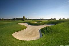 golf (iwowasilew) Tags: canon golf landscape eos sand hole bunker 70200 f4 hazard 30d