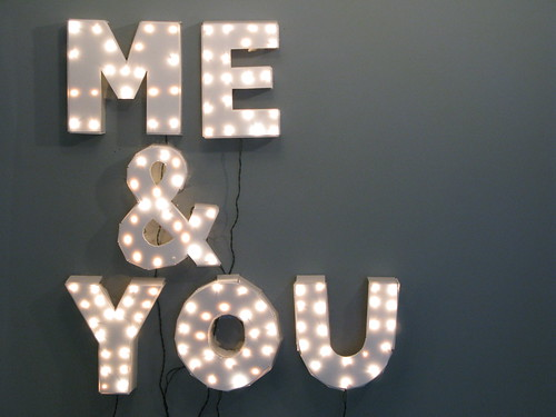 Me & You Show Sign / marc horowitz