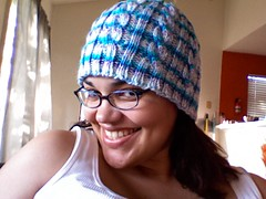 Cabled Beanie with Sharmane