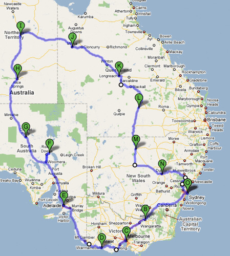 Final Road Trip Route