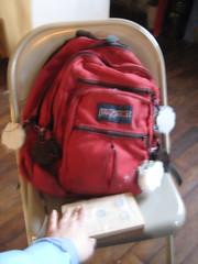 """O-poms on backpack <a style=""""margin-left:10px; font-size:0.8em;"""" href=""""http://www.flickr.com/photos/45923842@N00/2480478981/"""" target=""""_blank"""">@flickr</a>"""