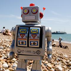 Robot Beach 3 (AndyWilson) Tags: beach robot pier brighton sony pad alpha a100 18250