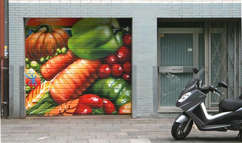 Auftragsarbeit für Hulk Biofood neben dem Stadtgarten.