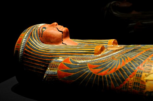 Mummy of Pe-de-ese in cartonnage cover