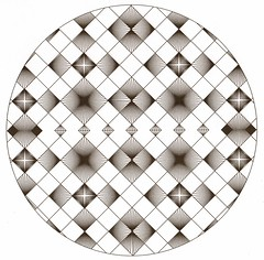 Great Ball of Tangle Diamonds (Marguerite1997) Tags: blackandwhite geometric circle stars grid facets zentangles zentanglepattern zentangleinspiredart zentanglegreetingcards