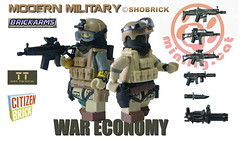 War economy (Shobrick) Tags: money modern army war lego soldiers guns minifig custom economy weapons warfare shobrick