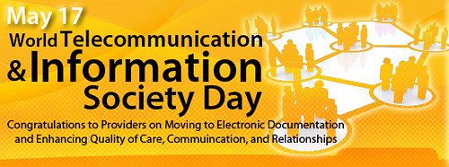 Graphic showing World Information Society Day
