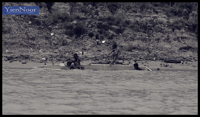 The Black Kids Plating at Cangri River