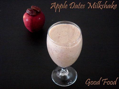 apple dates milkshake good food