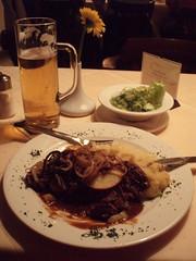 Kalbsleber nach Berliner Art mit Kartoffelpüree