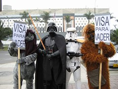peruvian strike in front of U.S Embassy