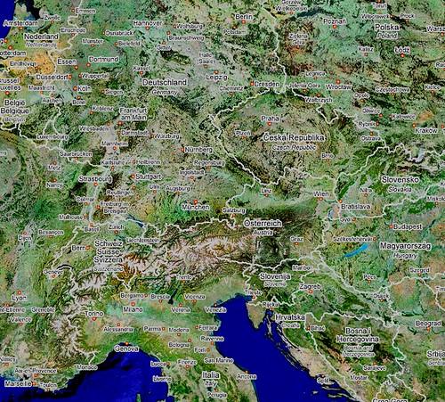 Memory map - Inter-railing around Europe