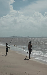Man and boy (668 neighbour of the beast) Tags: sea beach southamerica tropical frenchguiana guiane guianas neotropics