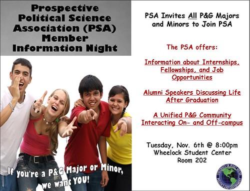 PSA info night