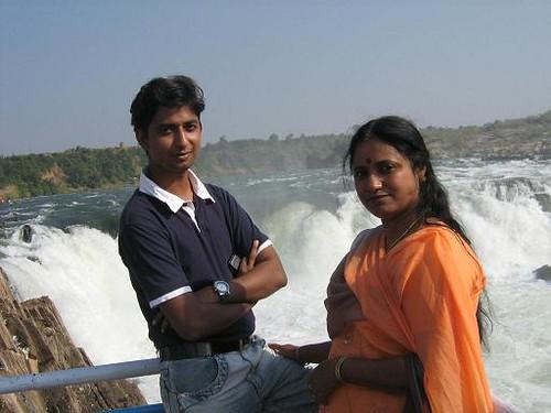 Jabalpur India  city photo : Rahul Nair with Sarla Nair Malanjkhand, at Bedaghat, Jabalpur, India.