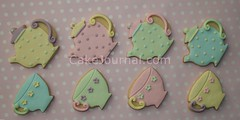 Teapot & teacup cookies (cakejournal) Tags: cookies hearts cookie dragonflies pastel butterflies insects teacups teapot bonbon fondantcookies fondantcookie
