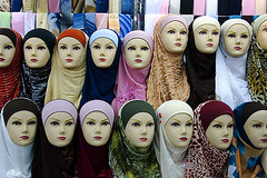 fashion (nischikata) Tags: mannequin fashion shop scarf head muslim hijab jordan scarves kerak hejab