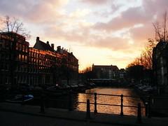 Sunset at Amsterdam