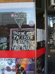 No Facebook - Blessington St, St Kilda (avlxyz) Tags: sign melbourne web20 casio exilim stkilda privacy facebook socialnetworking z850