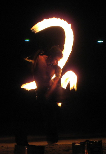 Enjoying the fire dance