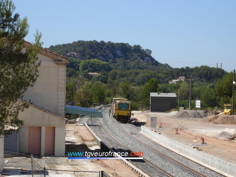 Travaux de doublement de la voie en gare de Simiane sur la ligne Aix - Marseille