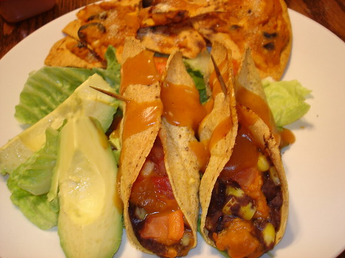 black bean & sweet potato flautas