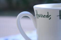 The World Is Cold .. (Orangeya) Tags: white green cup coffee grass table backyard lulu tea harrods mug lolo pure of orangeya 0rangeya