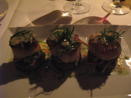 Resto Week Scallop Entree at Blanca