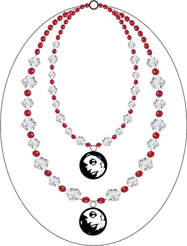 Necklace: Graduated, Double Strand with Pendants