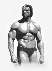 Young Schwarzenegger (pbradyart) Tags: portrait bw celebrity art pencil wow star sketch artwork drawing arnold schwarzenegger arnie pencildrawing goldenmix aplusphoto llovemypic